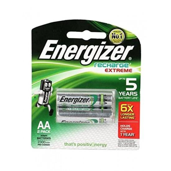 Energizer 2 AA Rechargable Batteries 2300Mah