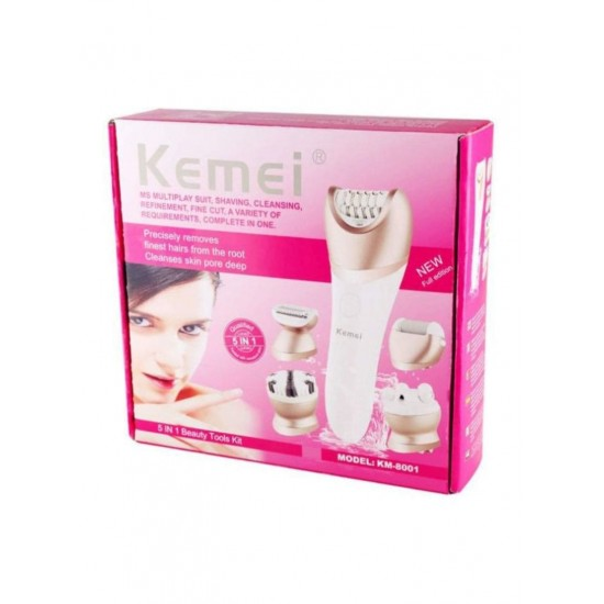 Kemei 5 in 1 Multifunctional Beauty Tool Kit White/Gold