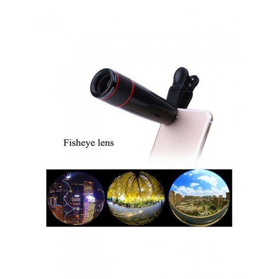 12X Zoom Camera Telephone To Telescope Lens For Cell Phone Universal Black