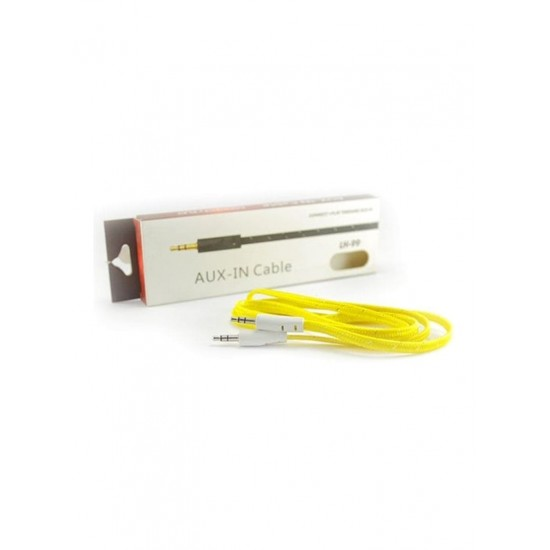 Teeba Aux In Cable Yellow/White