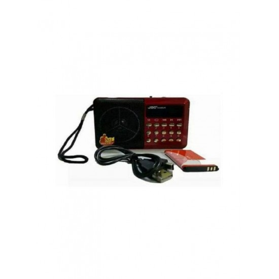 Joc Portable FM Radio Red/Black