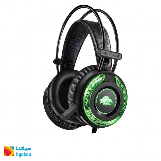 A5 GAMING BACKLIGHT HEADSET FOR PC, USB , BLACK