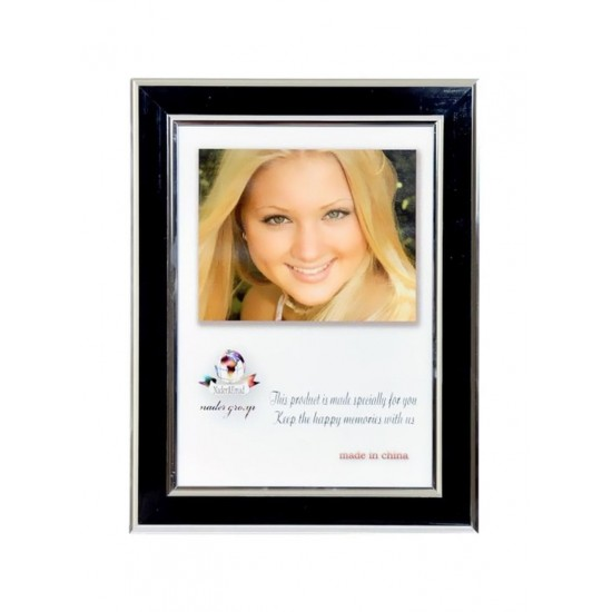 Desktop Photo Frame Black/White/Silver 10x15 centimeter