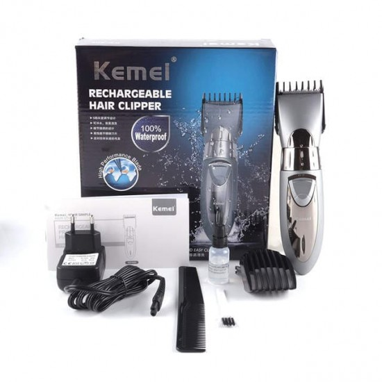 Kemei Rechargeable Waterproof Electric Trimmer Grey