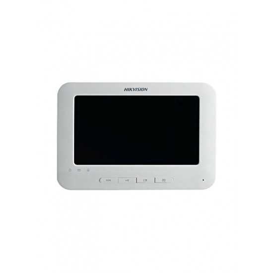 HIKVISION Video Intercom Indoor Station With 7-inch Touch Screen White/Black 8.5x5.6x1.0 inch