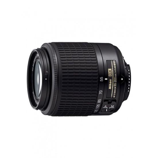 Nikon AF-S DX Nikkor 55-200mm f/4-5.6G ED IF Camera Lens Black