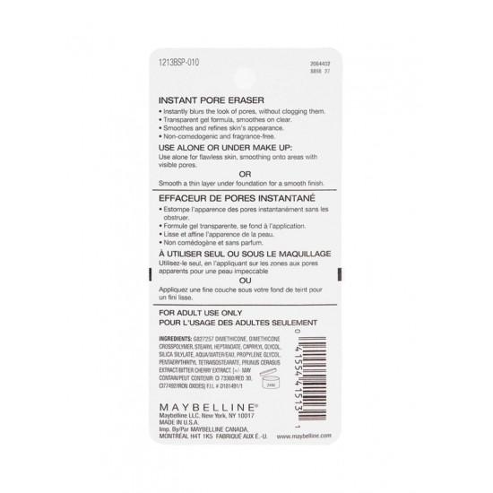 MAYBELLINE NEW YORK Baby Skin Instant Pore Eraser Lightweight Primer Clear