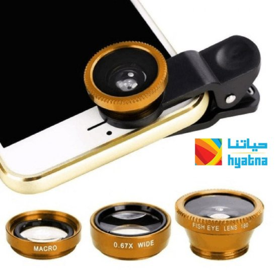 3-in-1 Wide Angle Macro Fisheye Lens Camera Kits Mobile Phone with Clip