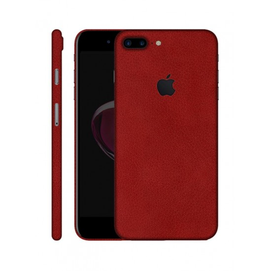 Pro Skinz Protective Vinyl Skin Decal For Apple iPhone 7 Plus Red Leather