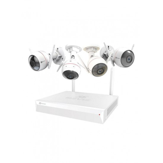 ezviz Home Security And Surveillance Kit With 4 Wireless Cameras White 26 x 27.2 x 4.8 centimeter