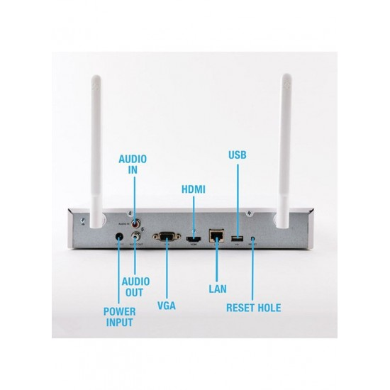 ezviz Home Security And Surveillance Kit With 4 Wireless Cameras White 26 x 27.2 x 4.8 centimeter